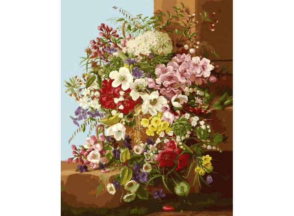 Живопись на холсте 40*50 см. Свежие цветы (252-AB)