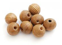 Наборы для изгот-я бижутерии. Бусина дерево 20 мм, 20 шт. (св. коричневый) (906-DB)