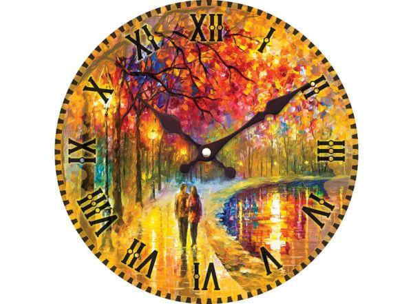 "Часы. Часы настенные ""Пара у озера"", диаметр 34 см (006-CL)"