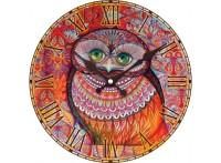 "Часы. Часы настенные ""Медовая сова"", диаметр 34 см (012-CL )"