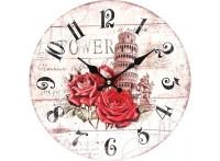 """Часы. Часы настенные """"Пизанская башня"""", диаметр 34 см (137-CL)"""