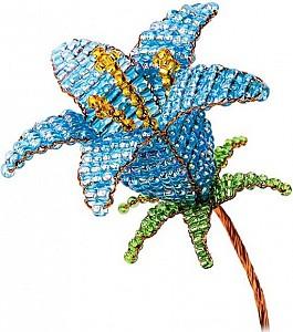 Набор для изготовления цветка из бисера «Голубой колокольчик»