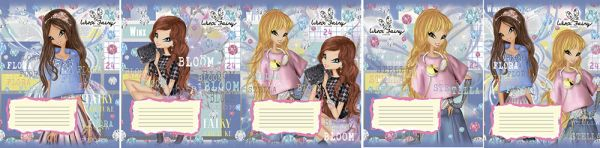 Тетр 24л скр А5 кл карт WX68/5-EAC твин УФ Winx Fairy Couture
