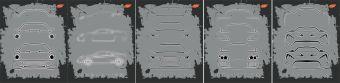 Тетр 48л скр А5 кл 7833/5-EAC 5+0 (метал) Evolution: контуры автомобилей