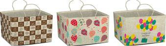 Пакет подарочный из крафт-бумаги для торта. Размер 30 x 20 x 30 см