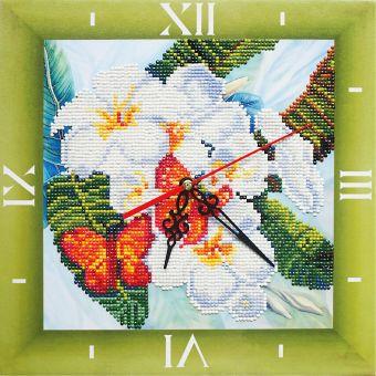 Алмазные часы. Бабочки и магнолии (7303001)