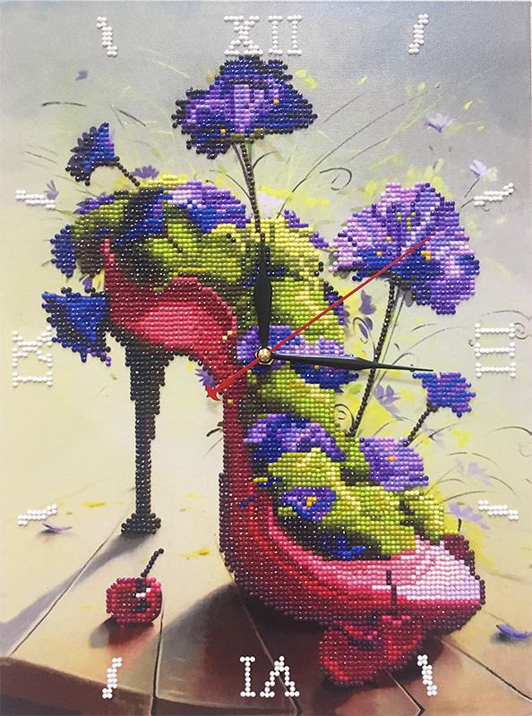 Алмазные часы. Цветочная туфелька (7304002 )