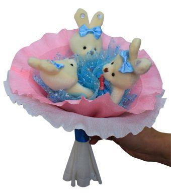 Букет из мягких игрушек - набор для творчества. LOVE букет (3ZL)