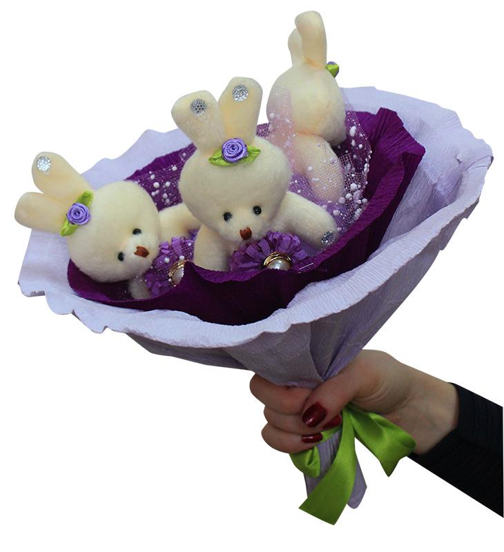 Букет из мягких игрушек - набор для творчества. Фиалка букет (3ZV) букет из игрушек toy bouquet медвежата зефирки цвет красный 7 игрушек