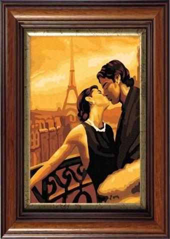 Картины со стразами. Поцелуй в Париже (CK045)