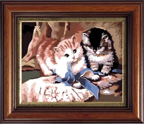 Картины со стразами. Игра котят (CK565)