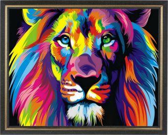 Картины со стразами. Радужный лев - картина со стразами (CKC012)