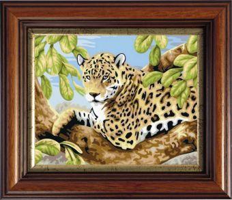 Картины со стразами. Леопард на ветвях (CKC504)