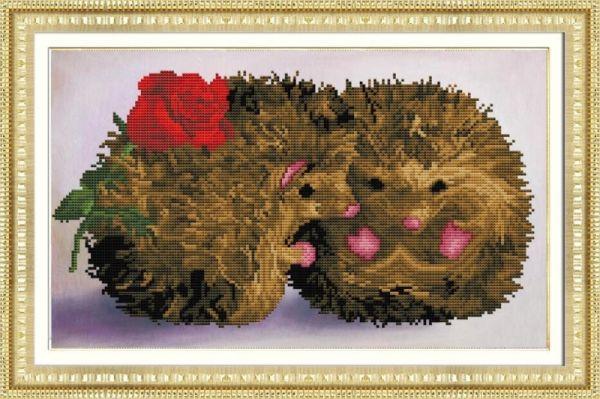 Мозаичные картины. Влюбленные ежи (305005)