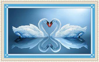 Мозаичные картины. Лебединая пара (80013)