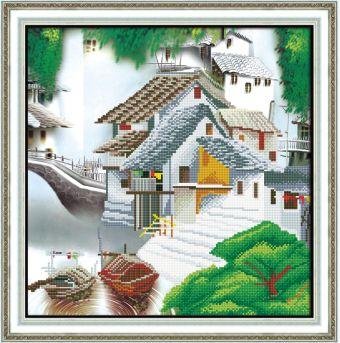 Мозаичные картины. Китайская деревня (80109)