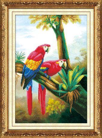 Мозаичные картины. Цветные попугаи (80118)