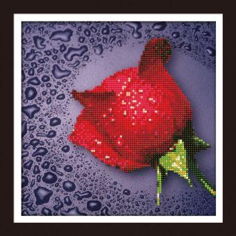 Мозаичные картины. Красная роза (80209)
