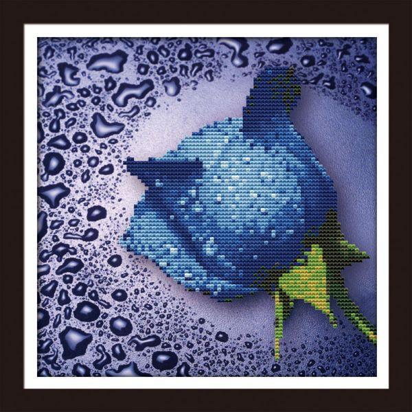 Мозаичные картины. Синяя роза (80210)
