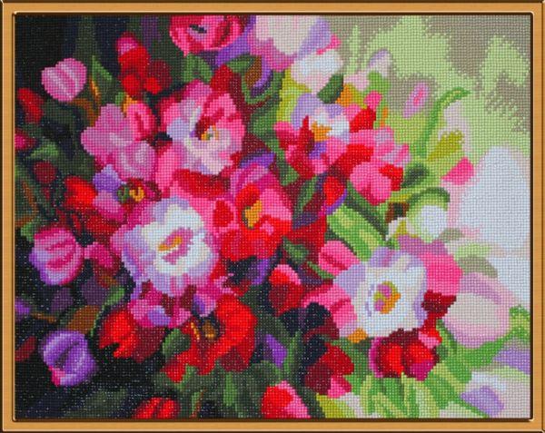 Мозаичные картины. Алмазные цветы (MO029)