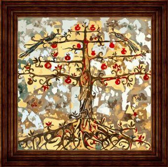 Открытки по номерам. Гранатовое дерево (AC008)