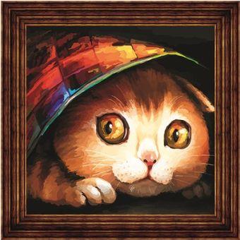 Открытки по номерам. Котишка-шалунишка (AC011)