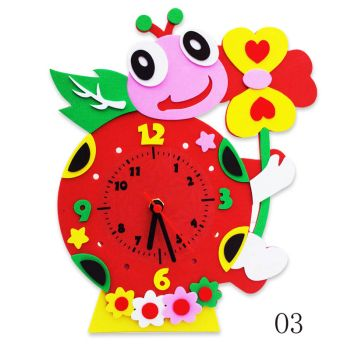 Часы детские. Божья коровка часы - набор для творчества из Фоамирана (CL003)