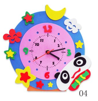Часы детские. Панда часы - набор для творчества из Фоамирана (CL004)