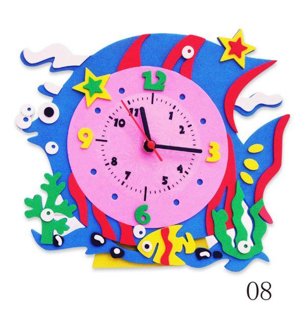 Часы детские. Рыбка часы - набор для творчества из Фоамирана (CL008)