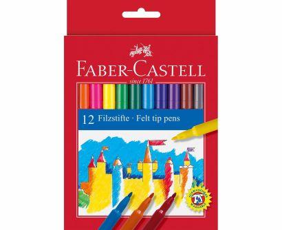 Фломастеры, набор цветов, в картонной коробке, 12 шт - фото 1