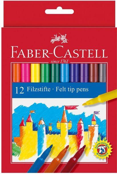 Фломастеры, набор цветов, в картонной коробке, 24 шт - фото 1