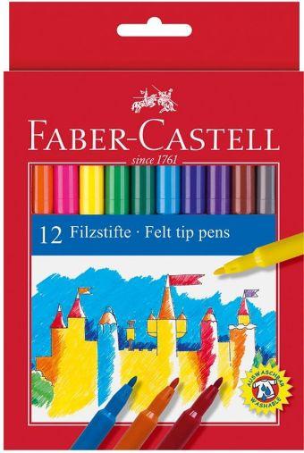 Фломастеры, набор цветов, в картонной коробке, 24 шт