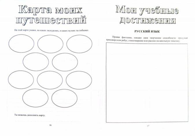 Осетинская О. В. - Я - четвероклассник: портфолио учащегося обложка книги