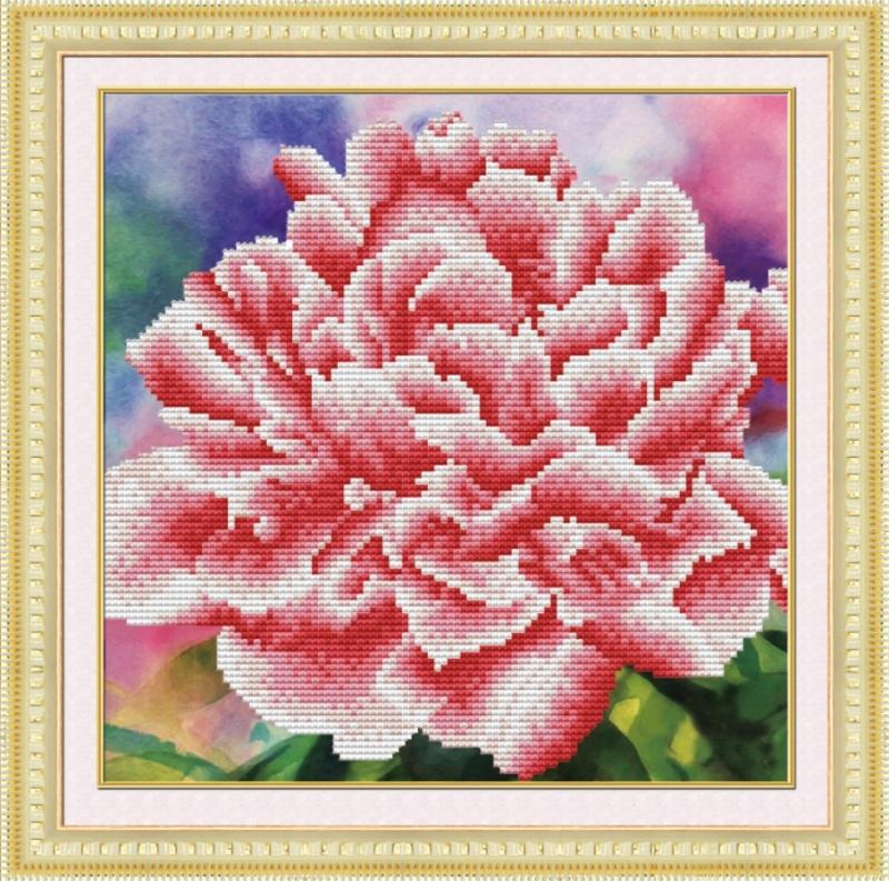 Мозаичные картины. Нежный пион - мозаичная картина (303001)
