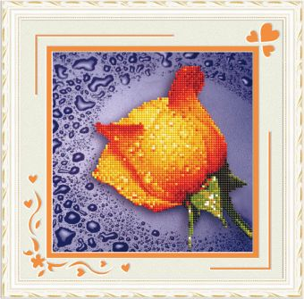 Мозаичные картины. Желтая роза - мозаичная картина (80211)