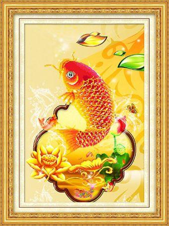Мозаичные картины. Золотая рыбка - мозаичная картина (90272)