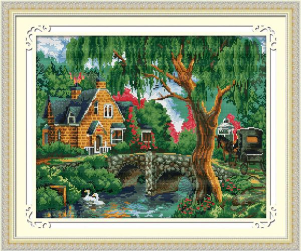 Мозаичные картины. Летний пейзаж - мозаичная картина (MO032)