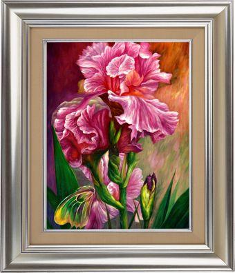 Мозаичные картины. Розовый ирис - мозаичная картина (MO045)
