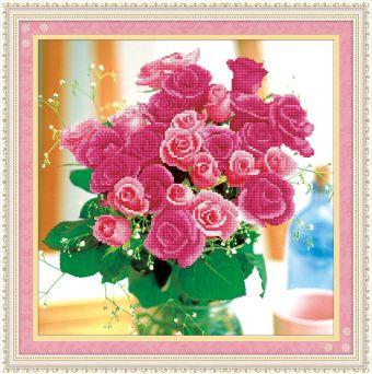 Мозаичные картины. Букет роз - мозаичная картина (80074)