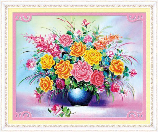 Мозаичные картины. Летний букет - мозаичная картина (80100)