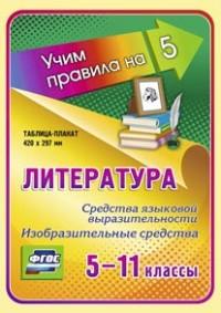 Литература. Средства языковой выразительности. Изобразительные средства. 5-11 классы: Таблица-плакат 420х297