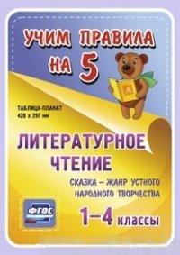 Литературное чтение. Сказка - жанр устного народного творчества. 1-4 классы: Таблица-плакат 420х297
