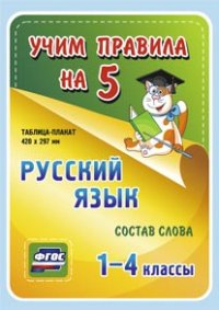 Русский язык. Состав слова. 1-4 классы: Таблица-плакат 420х297