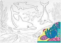 АРТ. Основа для творчества большая. Дельфины