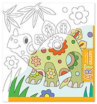 АРТ. Основа для творчества малая. Динозавр арт основа для творчества малая кот