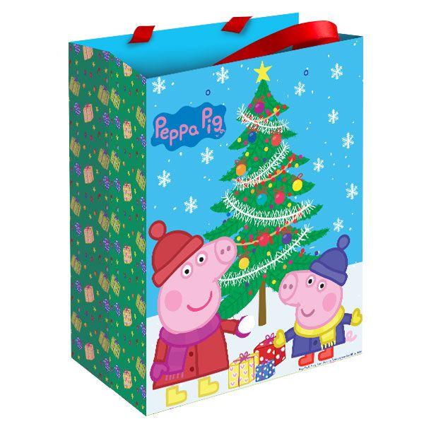 """Пакет подарочный """"Пеппа зимой"""" 230*180*100 Peppa Pig"""