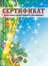 Сертификат участника новогоднего праздника (детский)