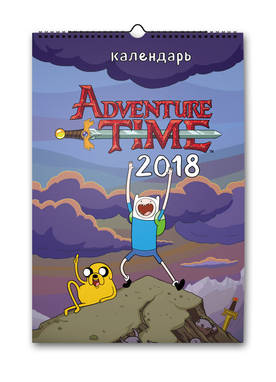 Время приключений/Adventure Time. Настенный календарь-постер на 2018 год от book24.ru