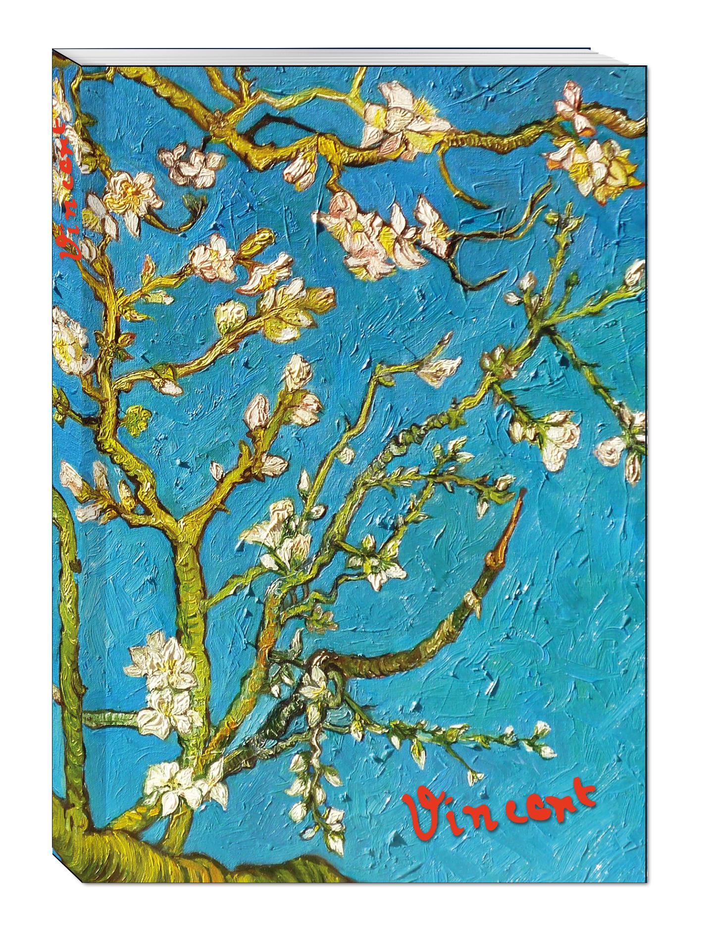 Блокнот в пластиковой обложке. Ван Гог. Цветущие ветки миндаля (формат А5, 160 стр.) (Арте) блокнот в пластиковой обложке моне терраса в сент адресс формат а5 160 стр арте
