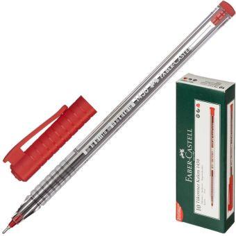 Шариковая ручка 1430, красная в картонной коробке, 10 шт
